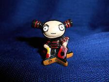 Ninja Garu Star Base Guitar Pucca Punk Love Mini Figurine French Porcelain Feves