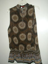 Women's XL top & skirt by Tape Measure -- Beautiful brown print - worn twice.