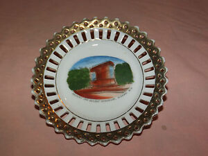 VINTAGE SOLDIERS' and SAILORS' MONUMENT ALBANY NY SOUVENIR DISH PLATE