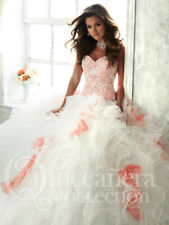 Tiffany 26804 Quinceanera Coral Ball Gown Dress size 10  Retail $690