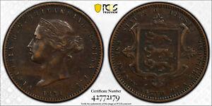 1871 1/26 Shilling Jersey PCGS XF40 Top Pop! RARE KEY DATE!