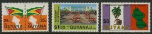 Guyana 608-10 MNH Flag, Map, Youth Palace