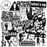 Mix Lot 100 pc Black White Stickers Skateboard Graffiti Laptop Luggage Car Decal