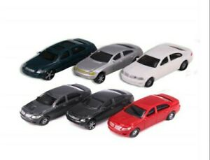 6 pcs Cars for oo gauge diorama model railway Hornby 1/76 scale