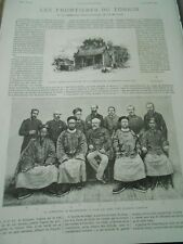 Tonki, Padoge The delimitation commission Town Dong Dang Engraving 1886
