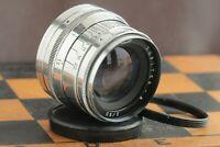 Silver JUPITER 8 2/50 Rangefinder Russian Lens for M39 L39/M42 Leica FED