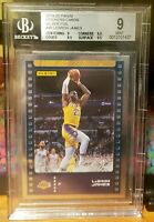 2019-20 Panini NBA Sticker & Card Collection #48 Lebron James Silver Foil BGS 9