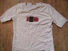 BIBA schönes Shirt mit Flagge weiß Gr. 2 TOP DH717