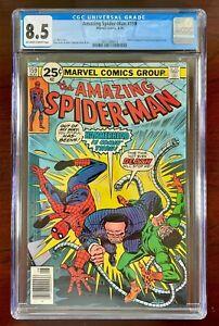 AMAZING SPIDER-MAN #159 CGC 8.5 VF+ (1976) 🔑 DOCTOR OCTOPUS & HAMMERHEAD