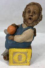 """#1 Signed Tom Clark Gnome Alphabet O #5240 Cairn Studios 3.5"""" Coa & Story Card"""