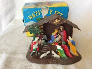 Vintage  Christmas Nativity Scene decoration boxed