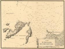 Plan du Mouillage de l'Ile Rousse. CORSE CORSICA. Gauttier 1851 OLD MAP