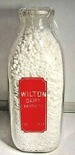 WILTON DAIRY PRODUCTS CATONSVILLE,MD. -2 COLOR PYRO QUART MILK BOTTLE