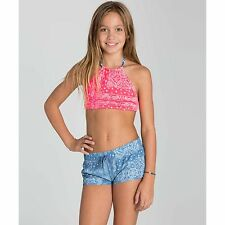 "2016 NWT GIRLS BILLABONG BANDANA RAMA 2"" VOLLEY SHORT $35 M inidigo boardshort"
