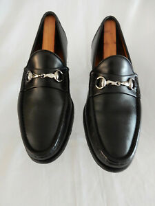 "ALLEN EDMONDS ""LUCCA"" BLACK HORSEBIT LOAFERS IN SIZE 10D / $375.00 RETAIL"