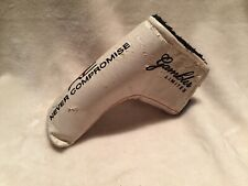 Never Compromise Gambler Limited Blade Putter Headcover - White Head Cover Cards