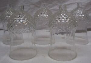 5 HOMCO / HOME INTERIORS TALL CLEAR CATHEDRAL VOTIVE CUPS
