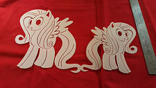 YOUTH ADULT T SHIRT AIRBRUSH STENCILS MY LITTLE PONY SET OF 2 FAST FREE SHIP!