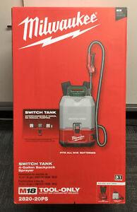 Milwaukee 2820-20PS Switch Tank 4 Gallon Backpack Sprayer NEW