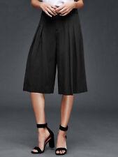 Gap 6T Nwt True Black Wide Leg Crop Pants P.A.C.E.  Small 6 Tall