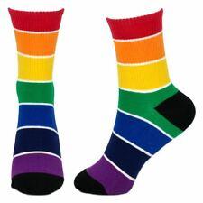 Donna Calzini 6 PAIA colorate tacco e punta alla moda Design Funky Adulti Da Donna 4-7