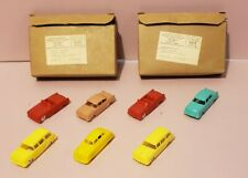 VINTAGE F&F MOLD~POST CEREAL PREMIUMS~PLASTIC TOY CARS LOT(7)~W/ORIG BOXES~CLEAN