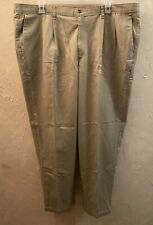 Dockers Classic Fit Khakis; Mens 46x32, Pleated, Excellent