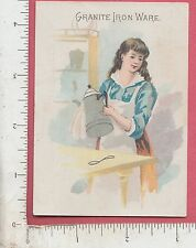 9967 Graniteware trade card agateware D. A. Clark, Van Wert, OH coffee pot food