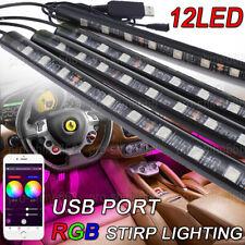 16-Colors 48-LED RGB Car Interior Atmosphere Footwell Strip Lights APP Control