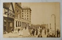 Long Beach LI NY - HOTEL NASSAU & BOARDWALK A Fowler Photo Postcard Antique Vtg
