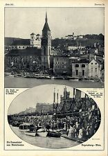 The Danube ride from motor boats Regensburg-Vienna historic recordings from 1910