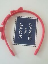 janie and jack pink triple bow headband 2 3 4 5 6 girly party VTG