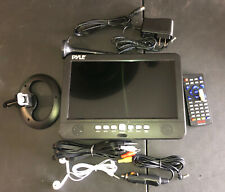 """Pyle 10"""" Portable Widescreen TV Rechargeable Battery Digital Video Tuner"""