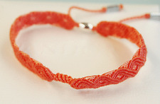 Genuine Pandora Macrame Bracelet coral, large 590711CCO-S2 - retired