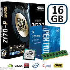 INTEL KABY LAKE G4560 16GB DDR4 ASUS Z170-P GAMING MOTHERBOARD UPGRADE BUNDLE