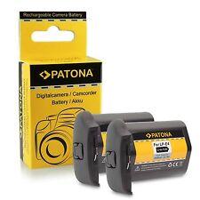 2x Batteria Patona LP-E4 LPE4 ricambio CANON EOS 1D Mark III IV OS 1Ds Mark III