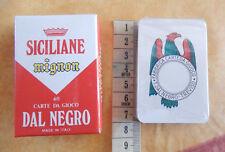 Siciliane mignon 40 carte d gioco Dal Negro scopa briscola Sicilia playing cards