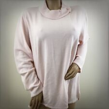 Norm Thompson Woman Pink Soft Knit Cowl Sweater Long Sleeve Top 3X Plus