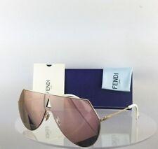 abaf0d01bfa Brand New Authentic Fendi FF 0193 S Sunglasses 0000J Gold Mirrored Frame  0193