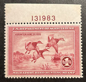 TDStamps: US Federal Duck Scott#RW2 Mint NH OG Gum Dist Tiny Thin on Selvage