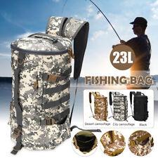23L Large Waterproof Outdoor Fishing Tackle Backpack Shoulder Bag Storage Bag Us