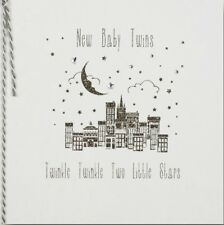 Five Dollar Shake New Baby Twins Greeting Card Handmade in The UK
