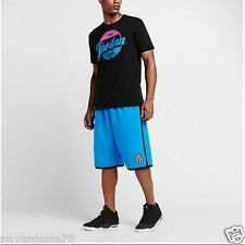 SIZE 2XL MEN'S NIKE JORDAN SPIKE LEE PHOTO BLUE / BLACK BASKETBALL SHORTS MESH