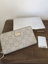Oroton Venice. Large multi zip wallet Concrete white