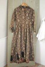 Antique American Victorian wrapper robe gown wool challis  woman's clothing