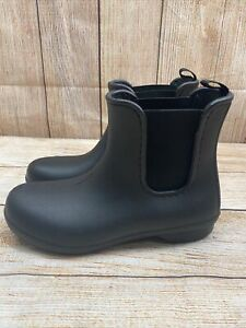 Crocs Free Sail Chelsea Rain Boot US Women's Size 7 - BLACK