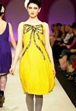 Trelise Cooper Size 14 'Tie A Yellow Ribbon - Super Nova' Silk Dress - A/W2010