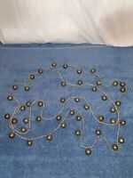 8 Ft Of Silver  Vintage Christmas Jinglebell Garland (45)  Metal Bells