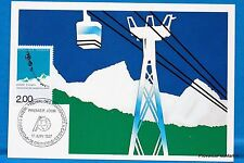 THE CABLE CAR FRANCE Postcard Maximum FDC Yt C 2480