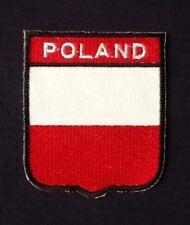 POLSKA POLAND POLISH NATIONAL COUNTRY FLAG BADGE IRON SEW ON PATCH CREST EURO